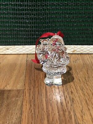 Marquis WATERFORD Crystal Christmas Endearments SANTA CLAUS ORNAMENT
