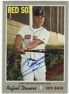 2019 Topps Heritage High Number ROA-RD Rafael Devers Real One Autograph