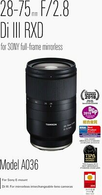 Tamron AF 28mm-75mm f/2.8 for Sony camera (receipt included, warranty included)