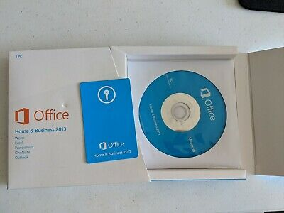 Microsoft Office 2013 Home and Business DVD and Key