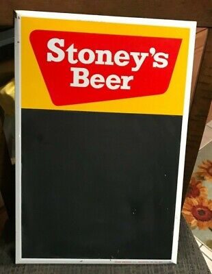 Stoney's Beer Metal Toc Tin Over Cardboard Chalkboard Sign Jones Brg Smithton Pa