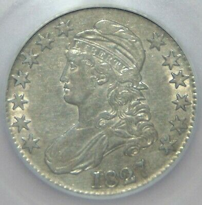1827 Capped Bust Silver Half Dollar ~ ICG EF45 - Extra Fine!