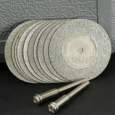 10PC 35mm Diamond Coated Cutting OFF Disc Rotary Tool For Grinder Drill Tool