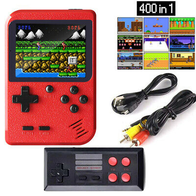 Mini Retro Handheld Box Game Console Built-in 400 Games for Double Players Gift