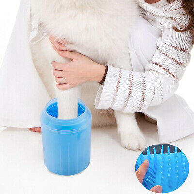 Portable Dog Paw Cleaner Pet Claw Cleaning Brush Cup Dog Foot Clean Feet Washer