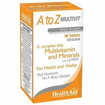 Health Aid A to Z Multivit & Minerals 90 Tablets New