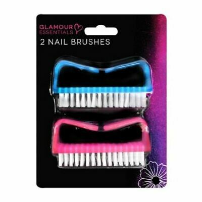 Glamour Essentials 2 Nail Brushes New