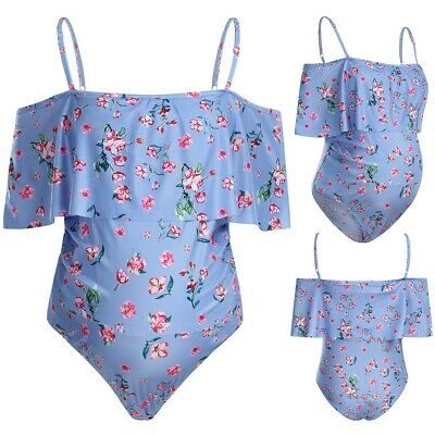 Women Maternity Bikini Top Floral Ruffle Strap Swimsuit Pregnancy Beach Swimwear