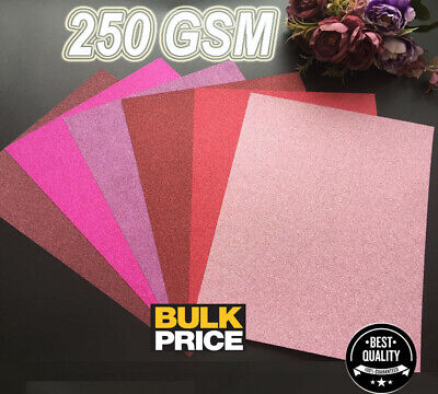 30 Sheets Of Thick Glossy Traditional/Modern Glitter 250 Gsm Paper