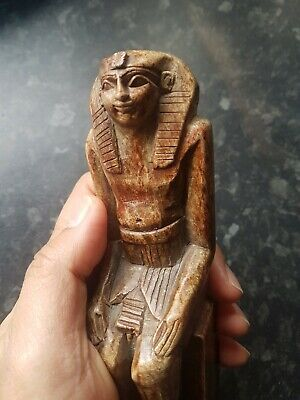 Vintage Heavy Handcarved Ornament, Soap Stone style~Ancient Egyptian Interest.