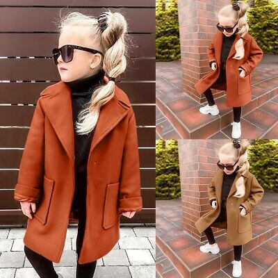 Girls Winter Solid Coat Long Sleeve Hooded Toddler Baby Jacket Coat Outerwear