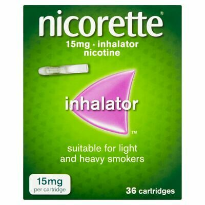 Nicorette 15mg Inhalator 36 Cartridges  New