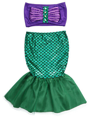 The Little Mermaid Tail Princess Ariel Dress Cosplay Costume Kids For Girl Fancy