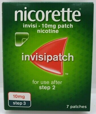 Nicorette InvisiPatch, Step 3, 10mg, 7 Nicotine Patches