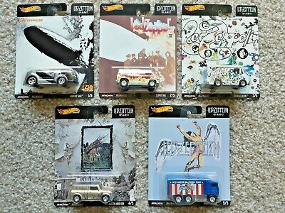 Hot Wheels 2020 Pop Culture Led Zeppelin Complete 5 Car Set Sealed In Hand