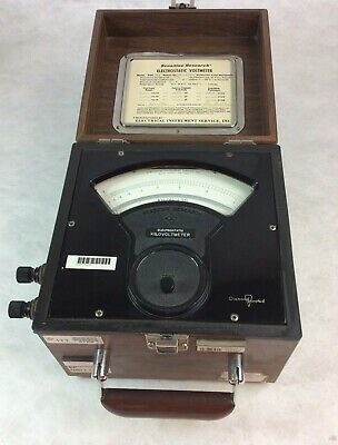 Research Electrosstatic Voltmeter 6X Es 14785 Volts 1000 Pf 59 (For Parts Only)