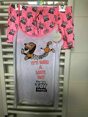 """Toy Story 4 Shortie Pj Set, Slinky """" Its Been A Long Day""""..Sizes 8-20..Brand New"""