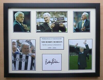 Sir Bobby Robson Signed Newcastle United Multi Picture Career Display (16740)