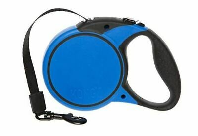KONG Essential Tape Retractable Leash 16 ft For Dogs Up To 110 Lbs Large Blue