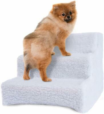 Washable Cover Pet Stairs 3 Steps Portable Cat Dog Animal Step Ramp Climb New
