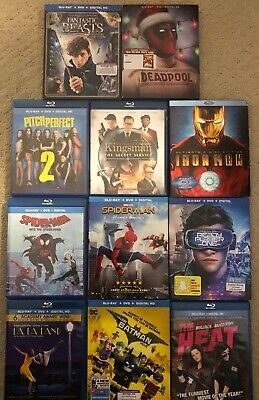 Blu Ray and DVD Movies Multiple Items Combined Shipping No Digital Codes