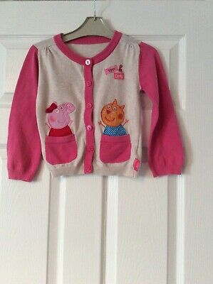 Peppa Pig And Candy Grey/pink Cardigan Age 4-5 Years From Nutmeg