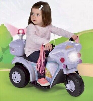 Kids Ride On Electric Princess Bike 6V Battery Operated Trike Purple 2 Years +