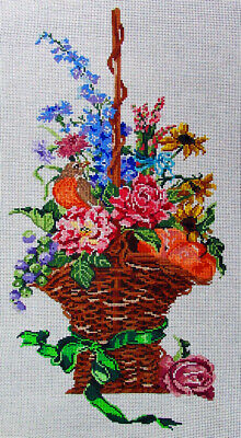 Bird on Fruitful Pipa Tree Branch HP Design Needlepoint Canvas #232