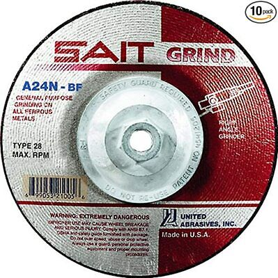 """Sait 4-1/2"""" X 3/16"""" X 5/8-11 Grinding Wheel, Made In The Usa, (Pack Of 10) 20150"""