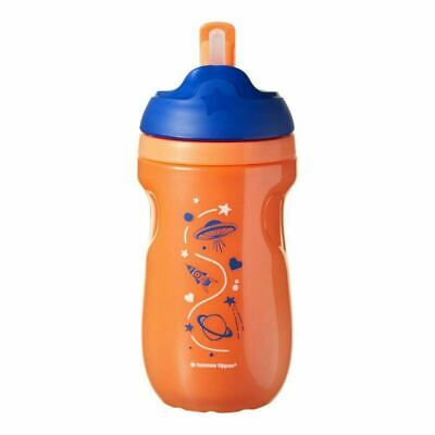 Tommee Tippee  Insulated Straw Cup - Orange Space 260ml New
