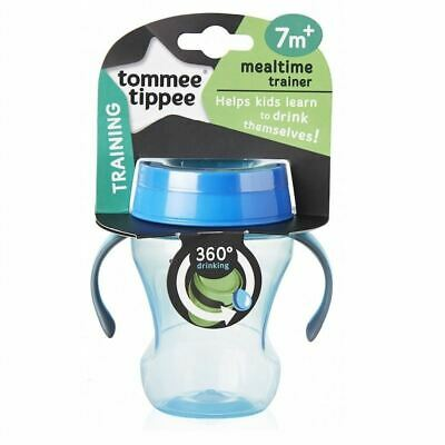 Tommee Tippee 360 Mealtime Training Cup 7m+ Blue New
