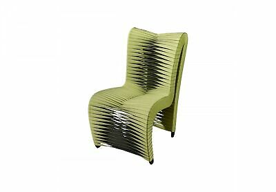 W High Back Dining Chair Modern Green
