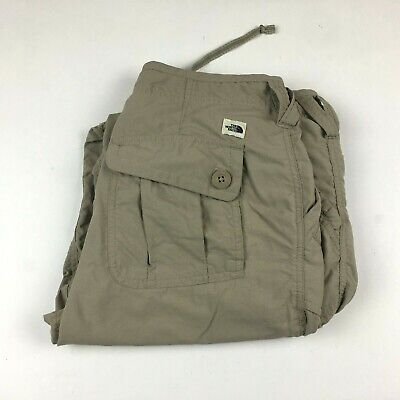 The North Face Womens Khaki Outdoor Hiking Pants Roll-Up Size 8