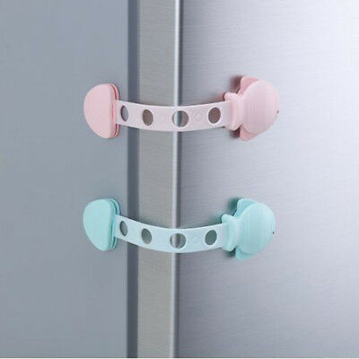 Child Adhesive Kid Baby Safety Drawer Door Lock Cupboard Cabinet Belt Strap AA3