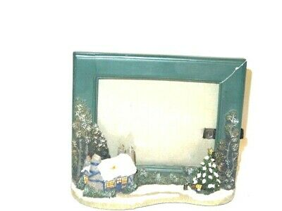 "Snow on house and tree WINTER SCENE PICTURE FRAME (5"" x 6"" Frame) 4x6 photo"