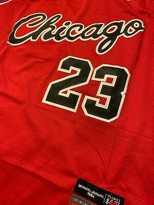 Michael Jordan #23 Chicago Bulls Chicago Red Rookie 1984 Mens Throwback Jersey