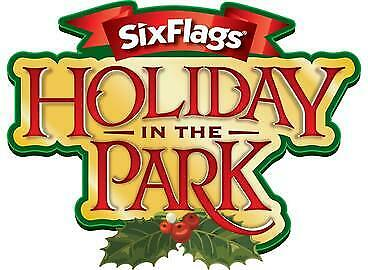 4 Six Flags Tickets Includes Holiday In The Park (Multiple Parks)