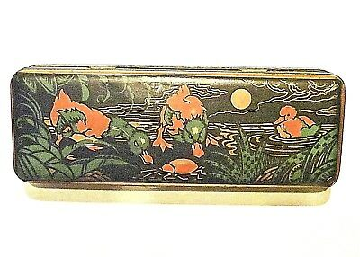 Caja Lata Art Deco Tin Box Ducks Cricket