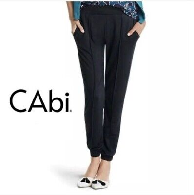 CAbi #3105 At Ease Track Pant Jogger Pockets Pull On Athleisure Black Women's XS