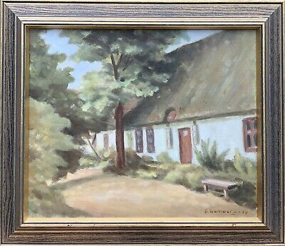 Unknown Painter - Landscape with Old Farmhouse - Kate Country House Bank Trees