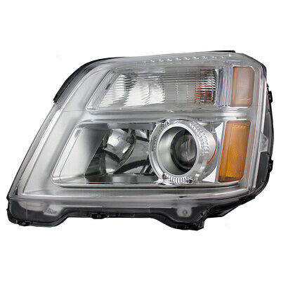 Drivers Halogen Combination Headlight Housing Assembly for 2010-2015 GMC Terrain