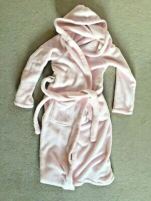 M & S - Girls baby PInk Fluffy Dressing Gown - 11-12 yrs