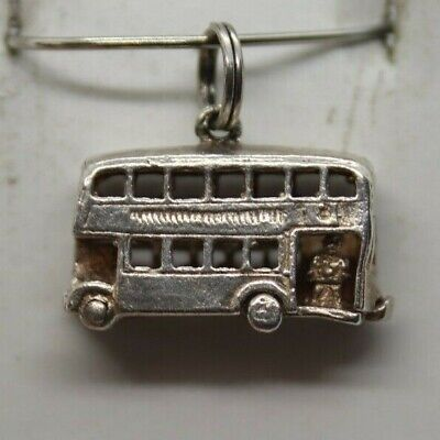Sterling Silver Double Decker Bus That Opens Charm