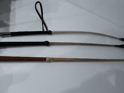3x Vintage Horse Riding Whips Crops Fibroflex The Eegee Whip #101