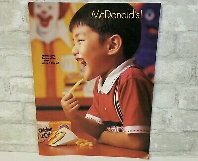 McDonald's Corporation 1999 Annual Report Collectible Vintage Asian Kids Cover
