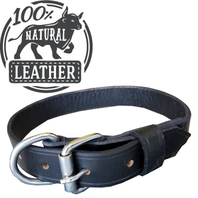 Handmade Genuine Leather Dog Collar Extra Strong For Large Dogs Puppies All Size