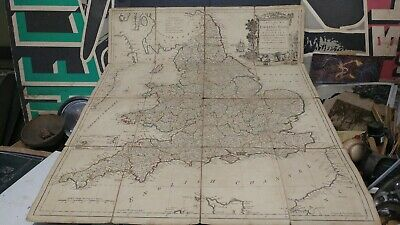 1794 Map of England and Whales T. Kitchen