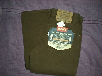 Brand New With Tags Kids Levis White Tab Button Fly Brown Jeans Size Age 8 Years
