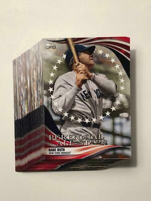 2019 Topps Update Perennial All Starts Complete Set 50 Cards Awesome Set!!