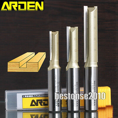 Router Bits ARDEN Double Flute Metric Straight Router Bits Shank 1 ...